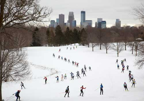 Cross country skiing in Minneapolis