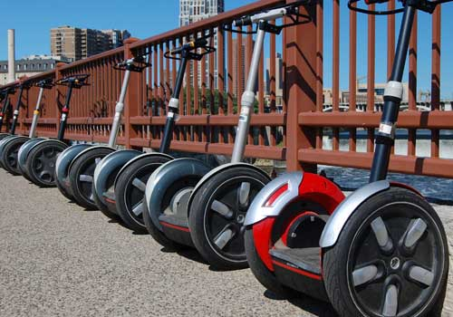 Segways along the river