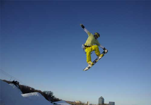 Snowboarding in the Twin Cities