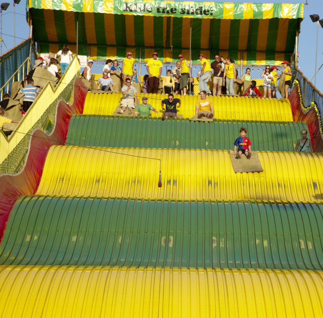 The kid slide at the MN State Fair