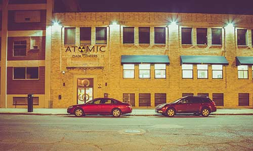 Atomic Date Exterior in the Warehouse District