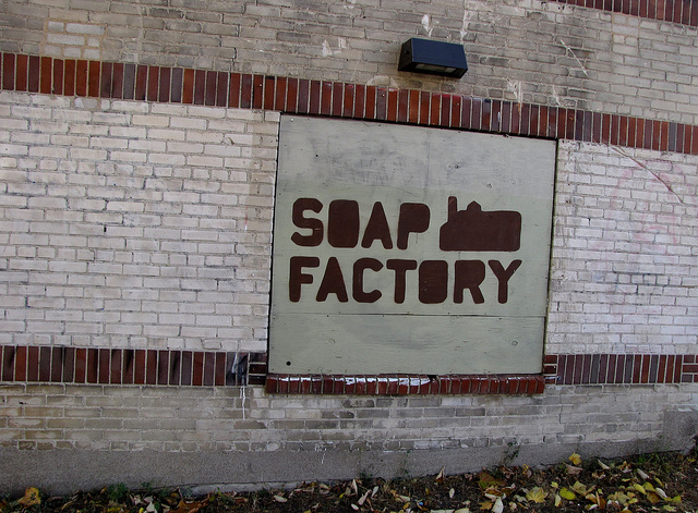 """Soap Factory Sign. Image by <a href=""""https://flic.kr/p/aC4gNg"""" target=""""_blank""""> John/flickr</a>"""