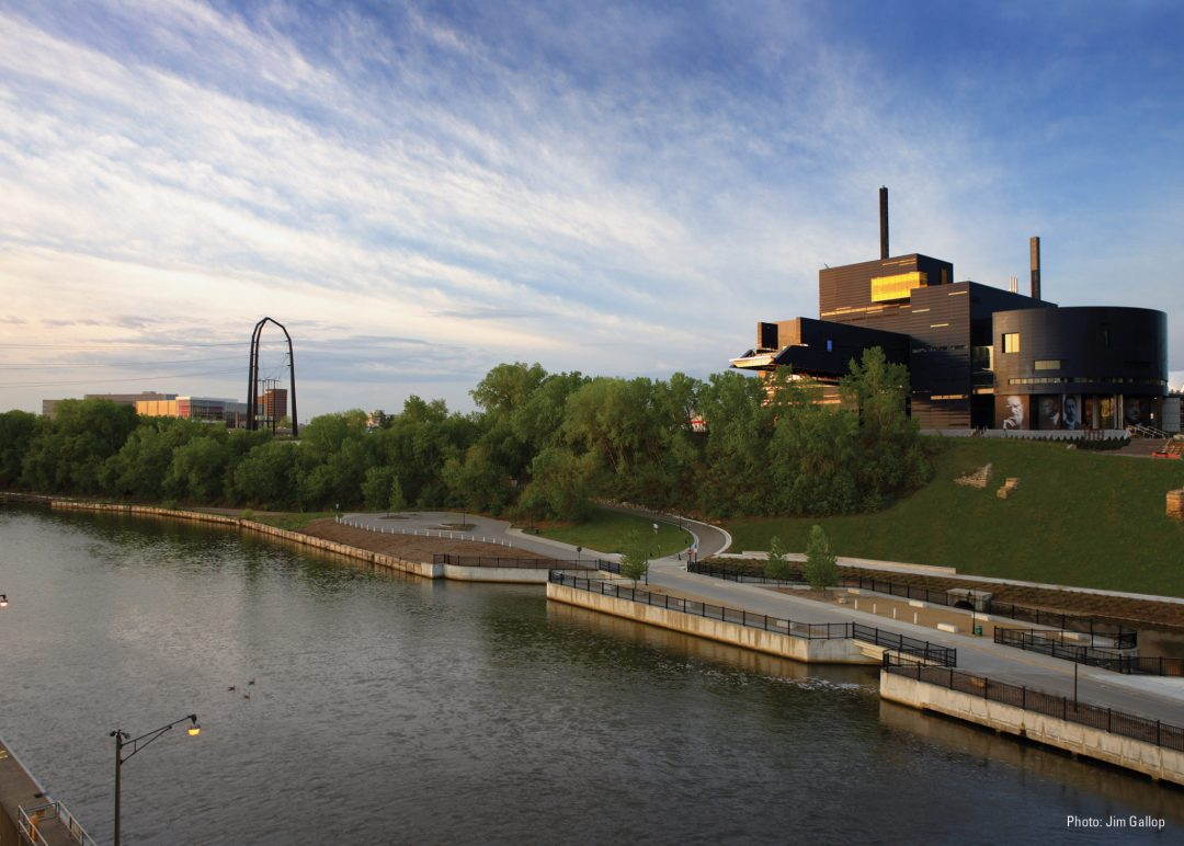 Sunset Over Guthrie Theater. Image by Amanda Ortland/Guthrie Theater