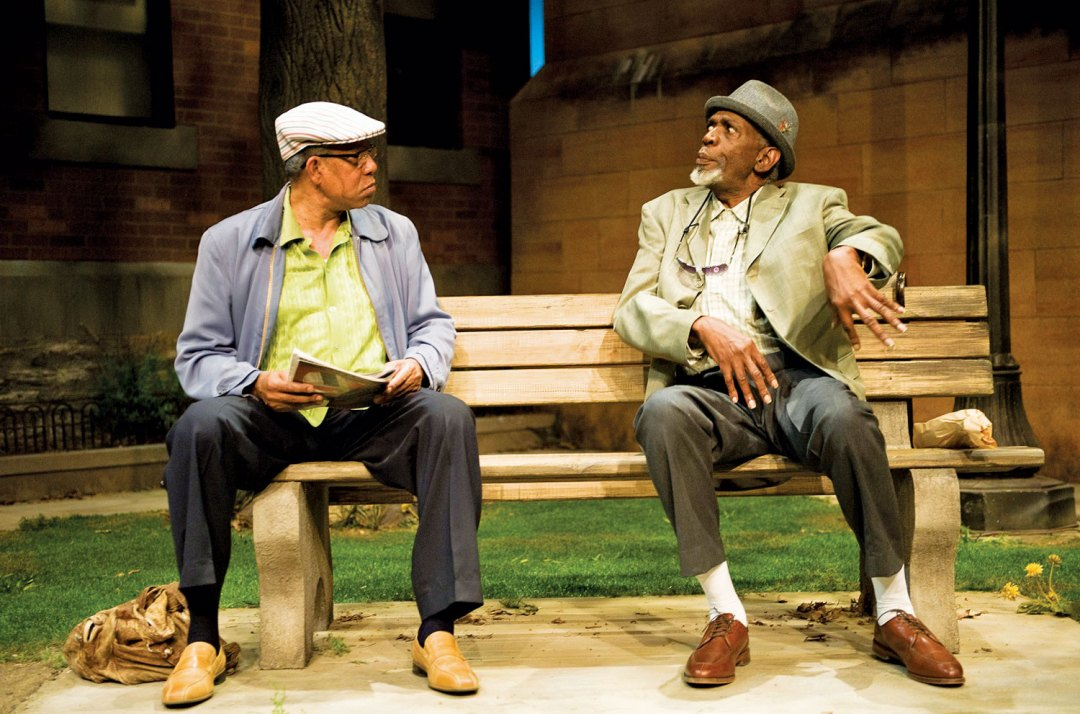 "Penumbra's ""Two Old Black Guys Just Sitting Around Talking."" <a href=""https://penumbratheatre.org/"" target=""_blank"">Penumbra Theatre</a>"