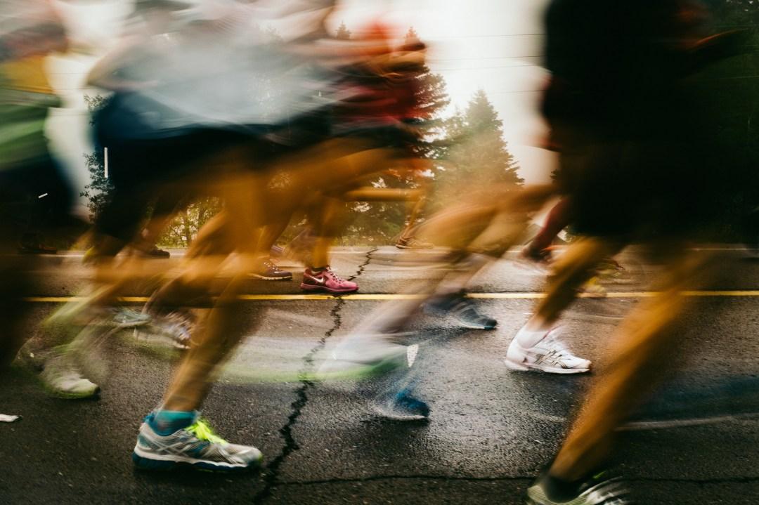 Runners during Grandma's Marathon