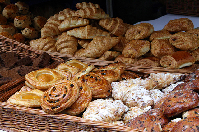 "Pastries & Croissants. Image by jypsygen <a href= https://flic.kr/p/6vFGrD target=""_blank""> jypsygen/flickr</a>"