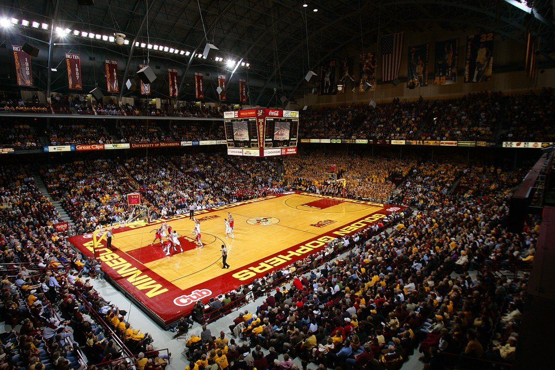 "Williams Arena. Image by <a href=""http://www.minneapolis.org/"" target=""_blank"">Meet Minneapolis</a>"