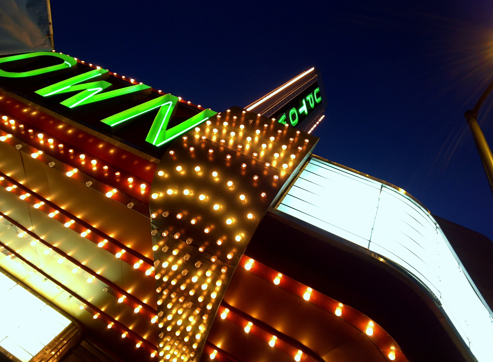 Uptown Theater Neon lights