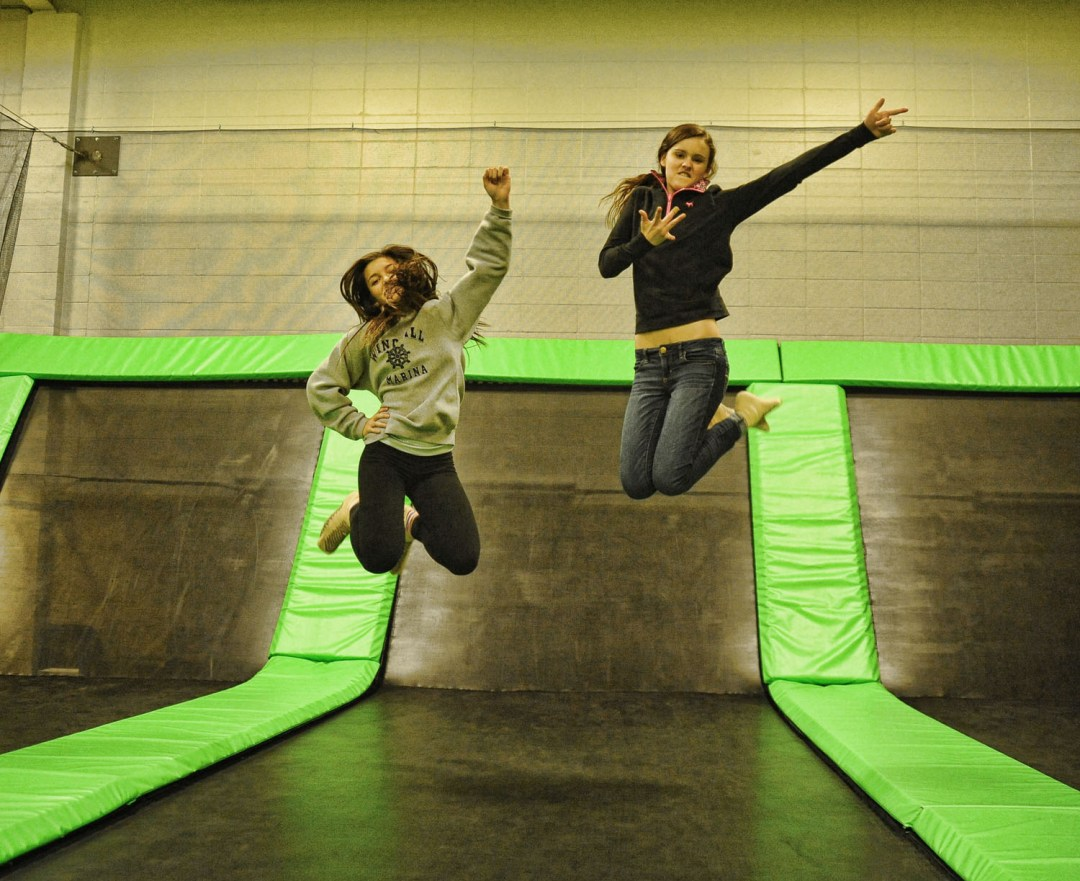"Trampoline Pose. Image by Airmaxx <a href=""http://www.airmaxxtrampolinepark.com/"" target=""_blank"">Airmaxx</a>"