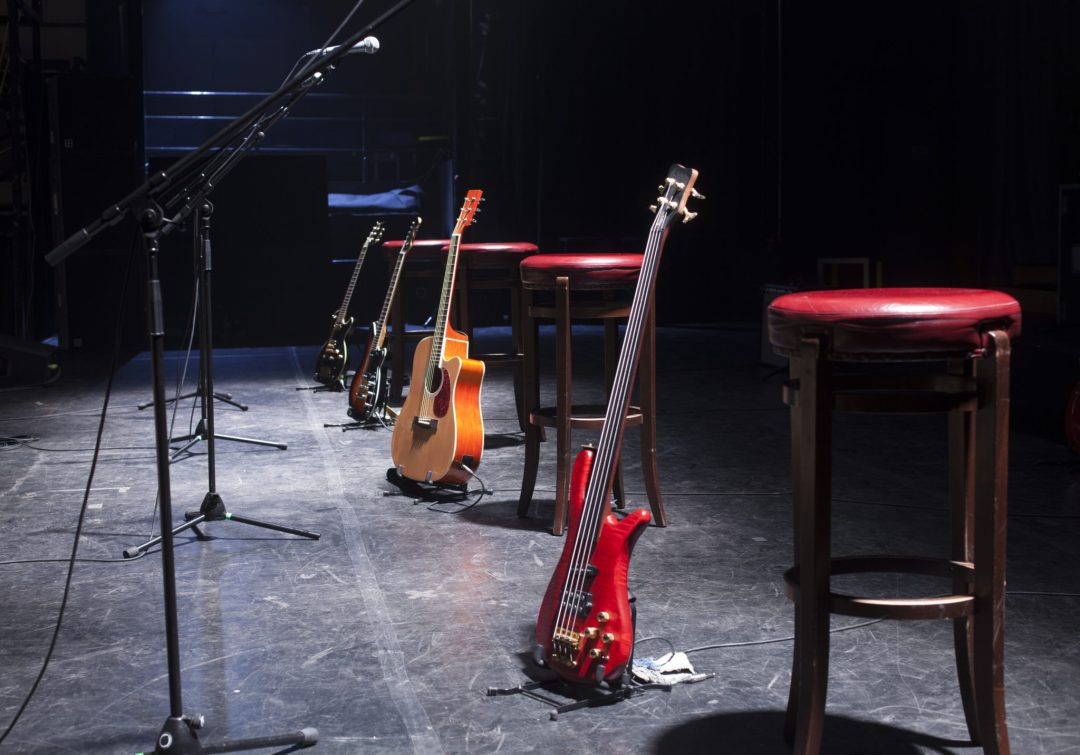 Guitars Stand at the Ready.