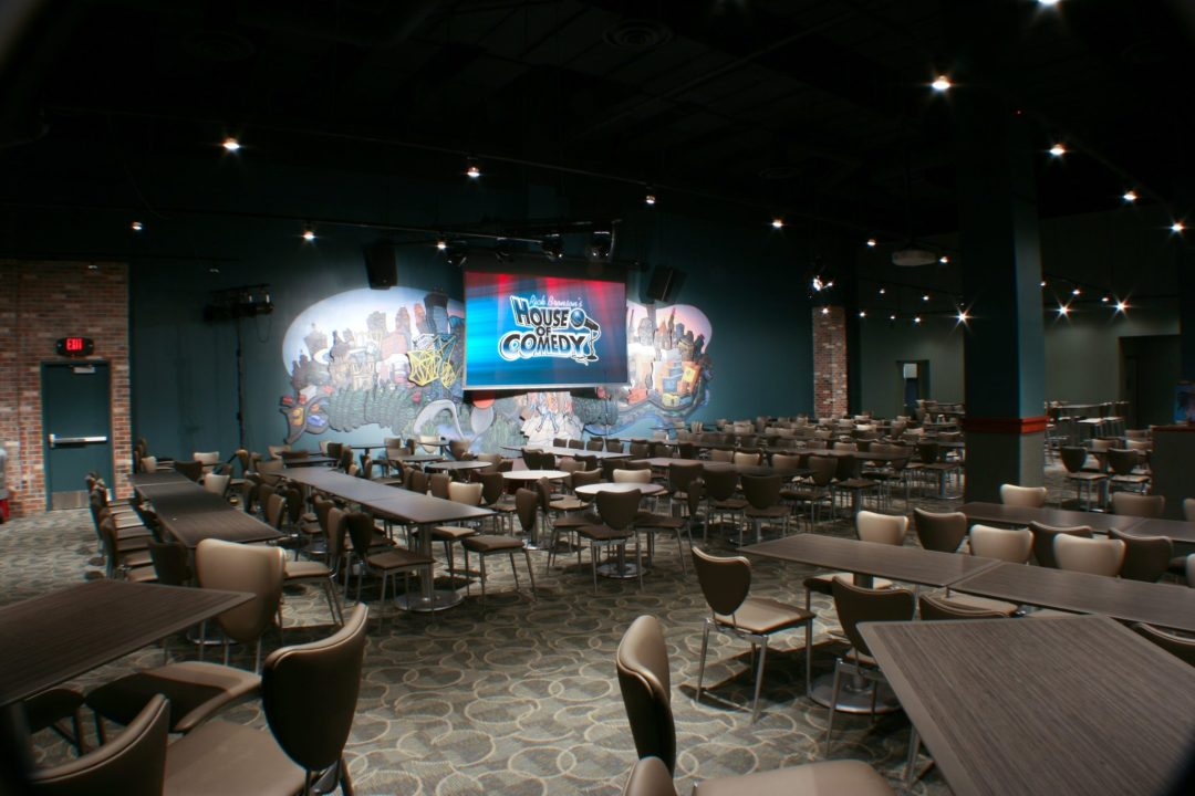 "Audience Room. Image by <a href=""https://moa.houseofcomedy.net/"" target=""_blank"">Rick Bronson's House of Comedy</a>"