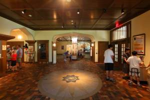 The Bakken Museum Lobby with guests looking at exhibits