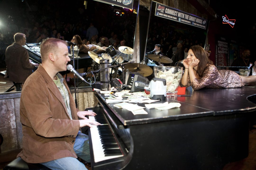 "Serenade Time. Image by <a href=""http://www.shouthousempls.com/mpls/default.asp"" target=""_blank"">Shout House Dueling Pianos</a>"