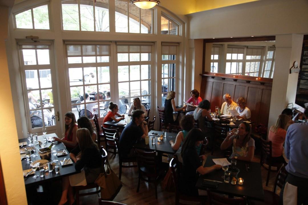 Interior of Harriet Brasserie Photo by Kirsten Mortensen/Greenspring Media