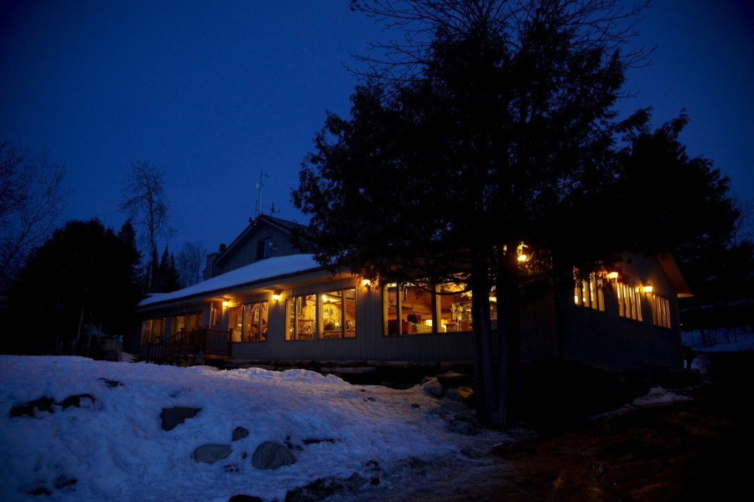 Exterior of the Gunflint Lodge