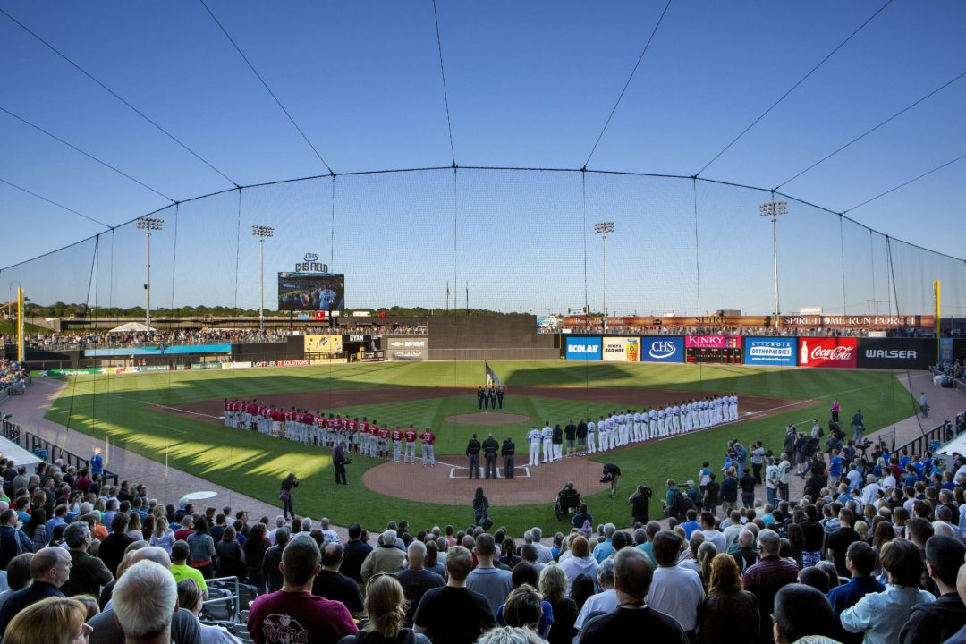 "View From Home Plate. Image by Christy Radecic. Courtesy of <a href=""http://saintsbaseball.com/"" target=""_blank"">St. Paul Saints</a>"