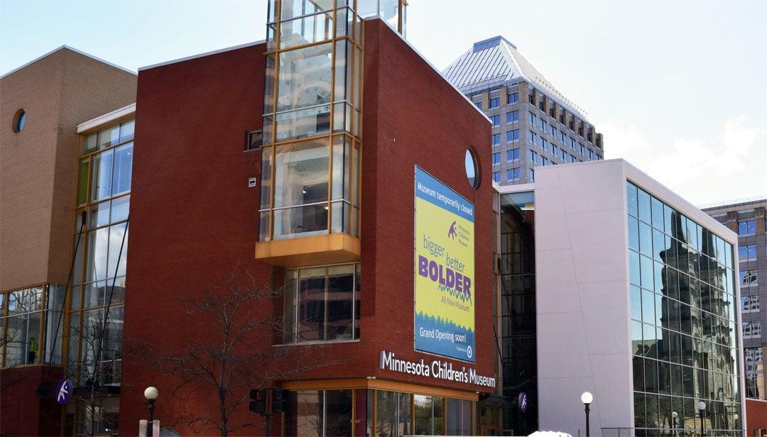 Outside of the Minnesota Children's Museum