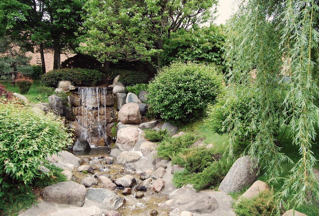 Waterfall in Japanese Garden Photo by jpellgen/flickr https://flic.kr/p/6QB1u9