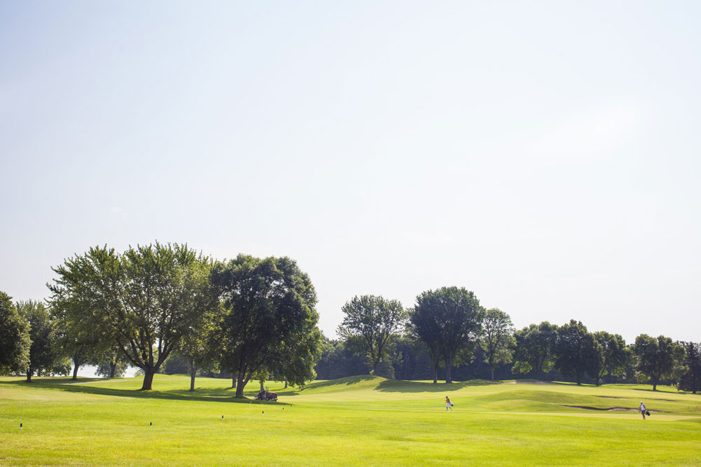 A shot of a fairway at Prestwick Golf Club.