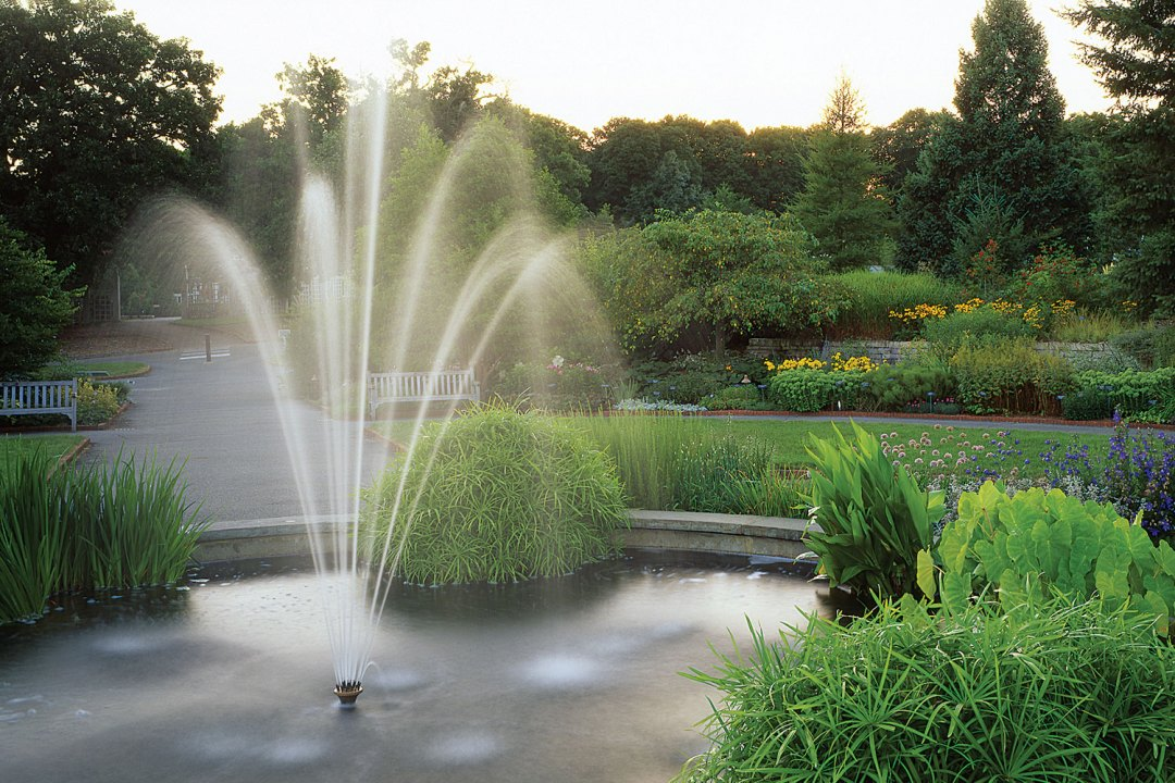 Water Fountain at the Arboretum. Image by John Gregor/Greenspring Media