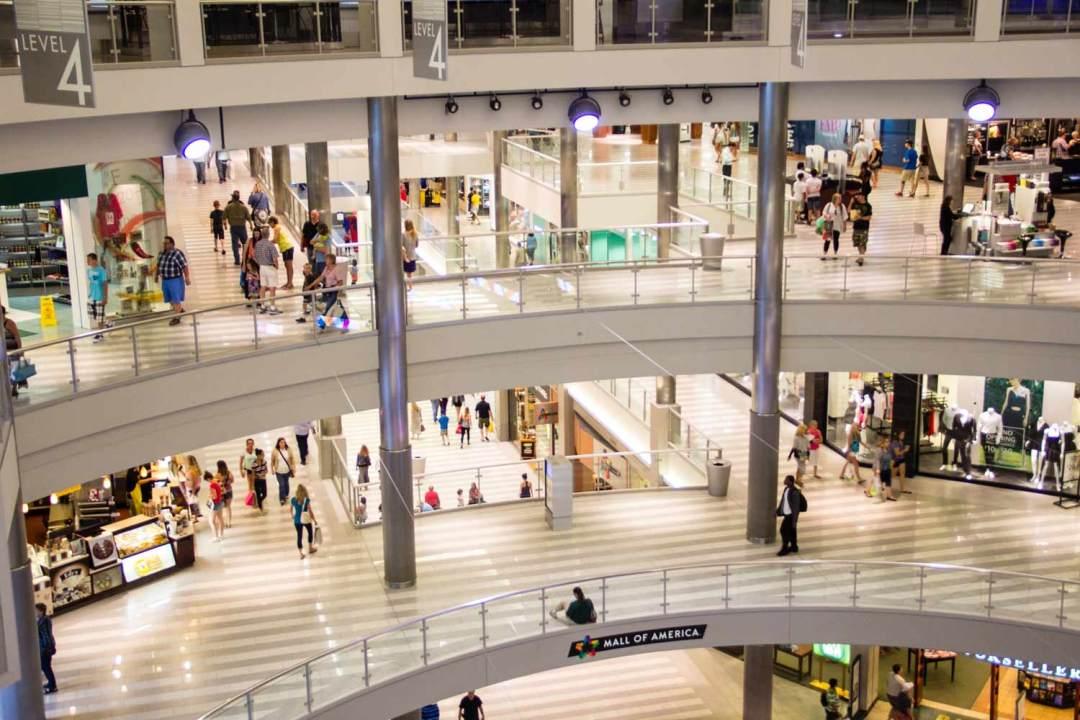 Mall of America Rotunda Aerial View