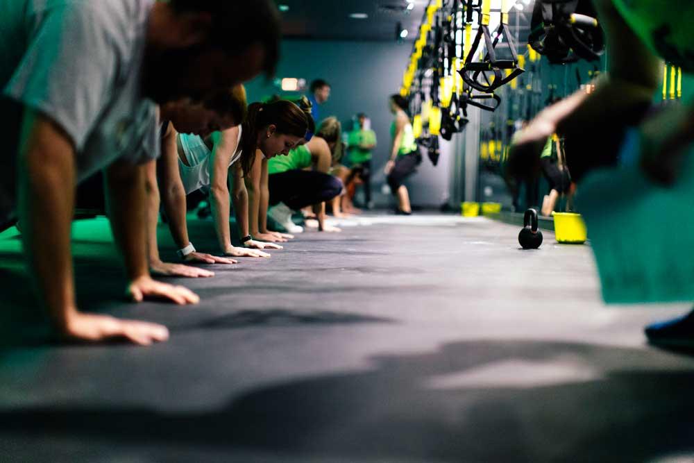 Floor exercises at Fly Feet Running.