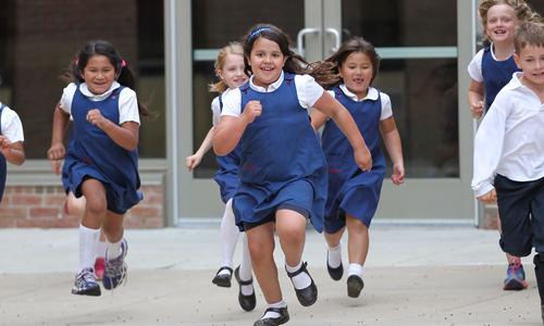 visitation-school-kids-running