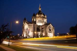 Saint Paul Cathedral shot at night