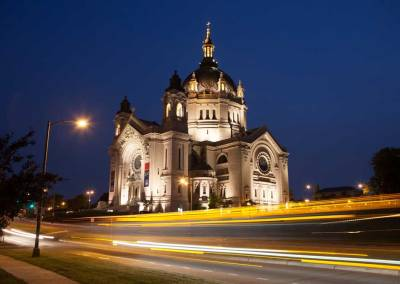 Saint Paul Cathedral shot at night