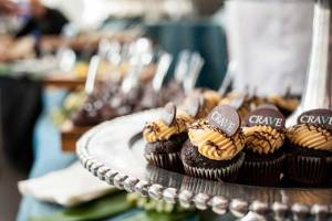 Some chocolate cupcakes at the Food and Wine Experience.