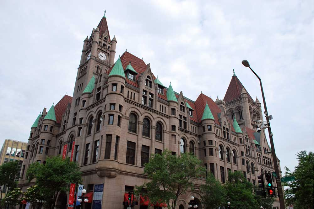The Landmark Center in St. Paul. One of St. Paul's historic places.