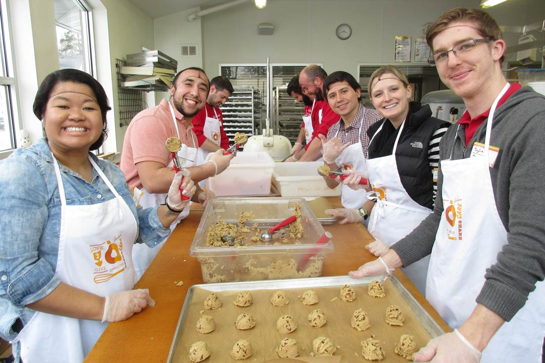 Open Arms volunteers in kitchen