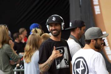Bob Burnquist hanging out at X Games Minneapolis 2017.