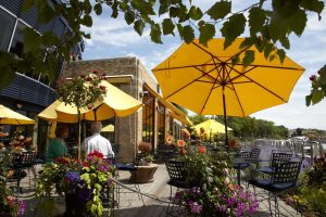 Photo of a restaurant patio in the Twin Cities.