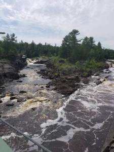A view from Jay Cooke State Park's swinging bridge overlooking the St. Louis River