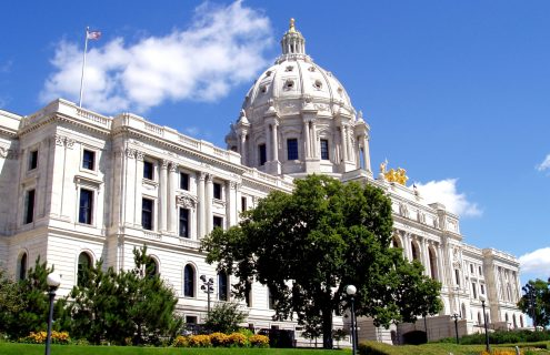 Minnesota State Capitol building in downtown St. Paul.
