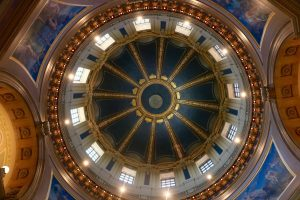 The dome's interior at the State Capitol