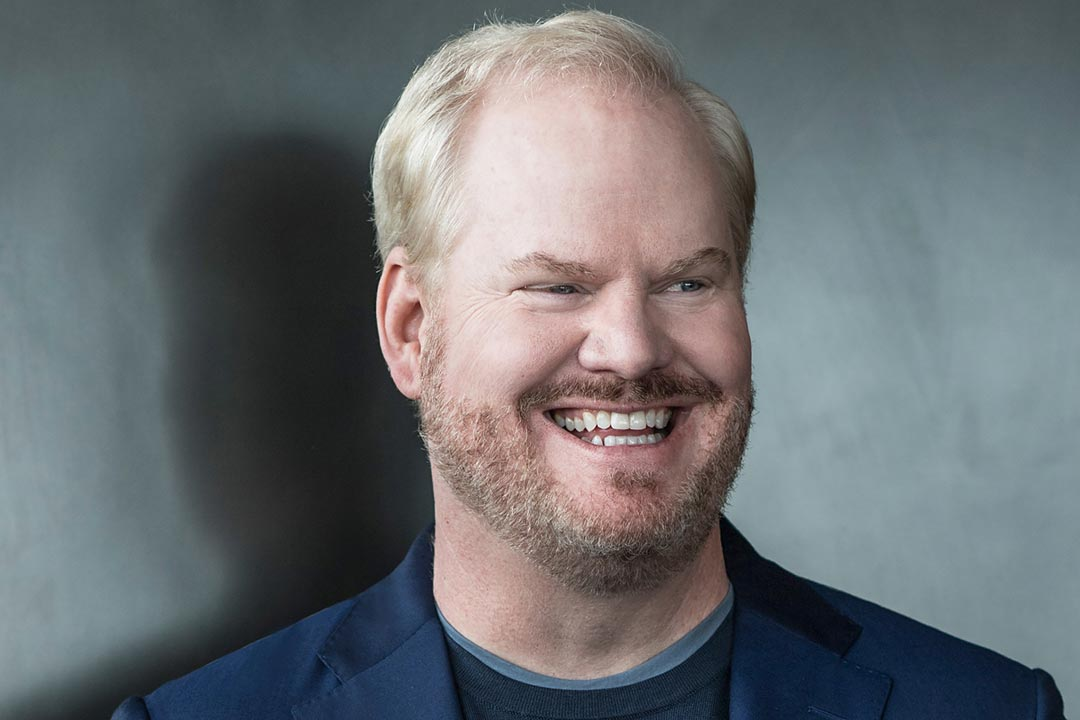 A portrait of Jim Gaffigan.