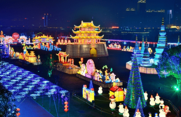 Palaces, trees, villages, tunnels of lights and more have been at the Lantern Light Festivals.