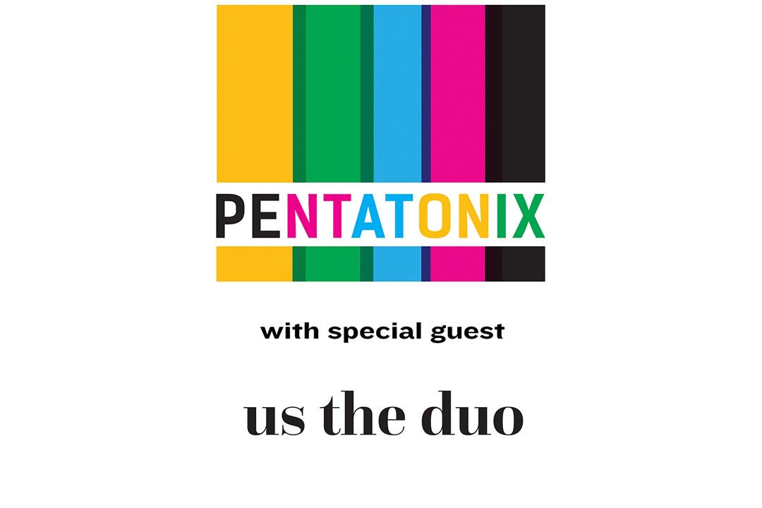 Pentatonix's multicolored logo.