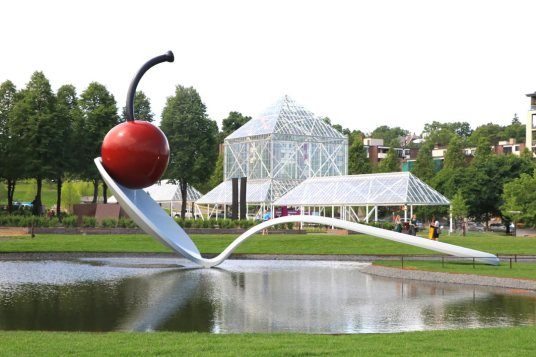 Spoonbridge and Cherry at the Minneapolis Sculpture Garden.