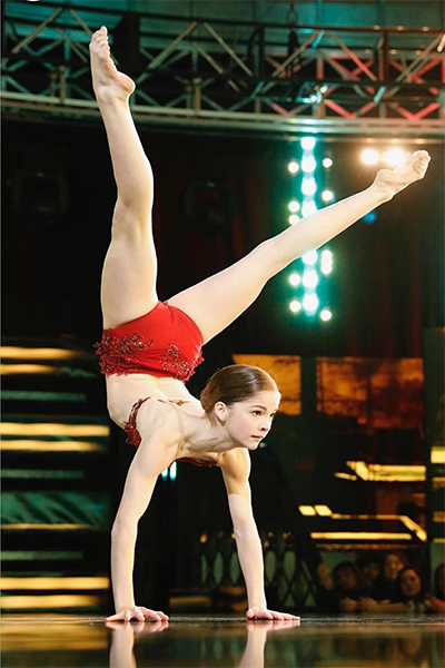 "Eva Igo goes into a handstand on ""World of Dance."""