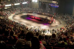 Roy Wilkins Auditorium in St. Paul, home to the Minnesota RollerGirls