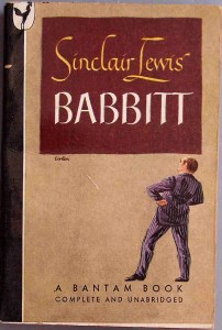 "Photo of the cover of the book ""Babbitt,"" by Sinclair Lewis"