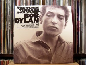 Photo of the cover of a Bob Dylan album