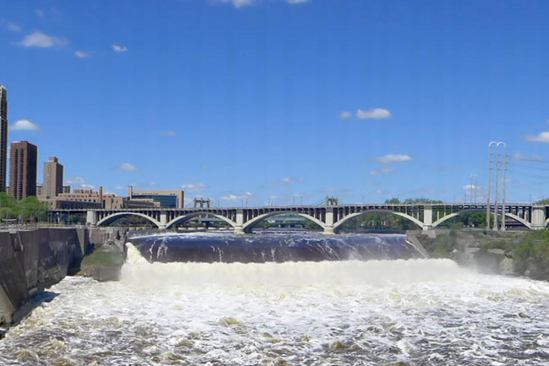 St. Anthony Falls on the Mississippi River.