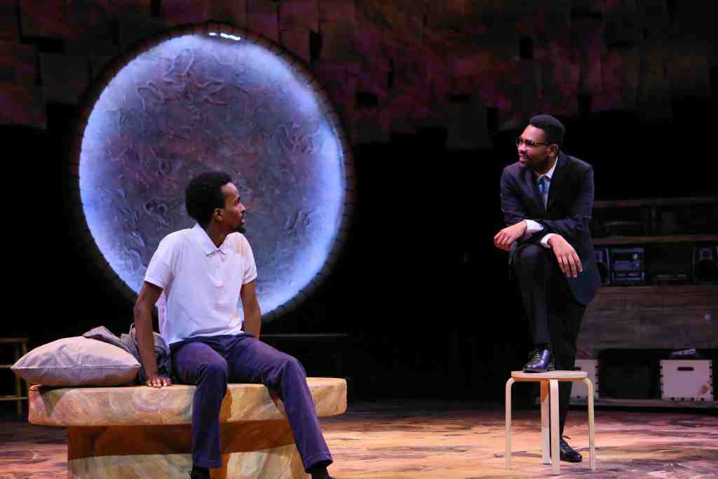 A Crack in the Sky - MN History Theatre. From left to right, Hajji Ahmed and JuCoby Johnson.