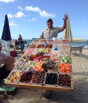 The people of Puerto Vallarta: Beach Vendor Selling Candy in Sayulita Mexico