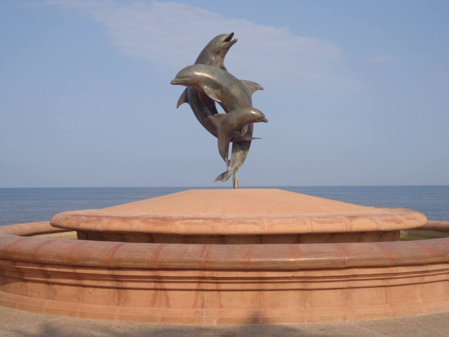 Sculpture on the Malecon in Puerto Vallarta, Mexico
