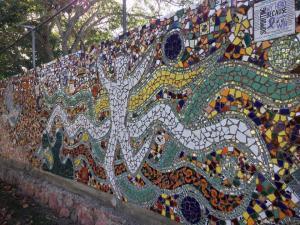 Marina Vallarta: Mosaic Art Wall in Marina Vallarta